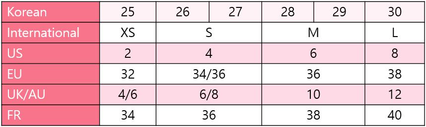 Size Conversion Chart Help